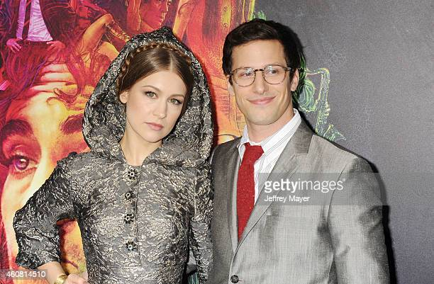 Actress Joanna Newsom and actor Andy Samberg arrive at the Premiere of Warner Bros Pictures' 'Inherent Vice' at TCL Chinese Theatre on December 10...