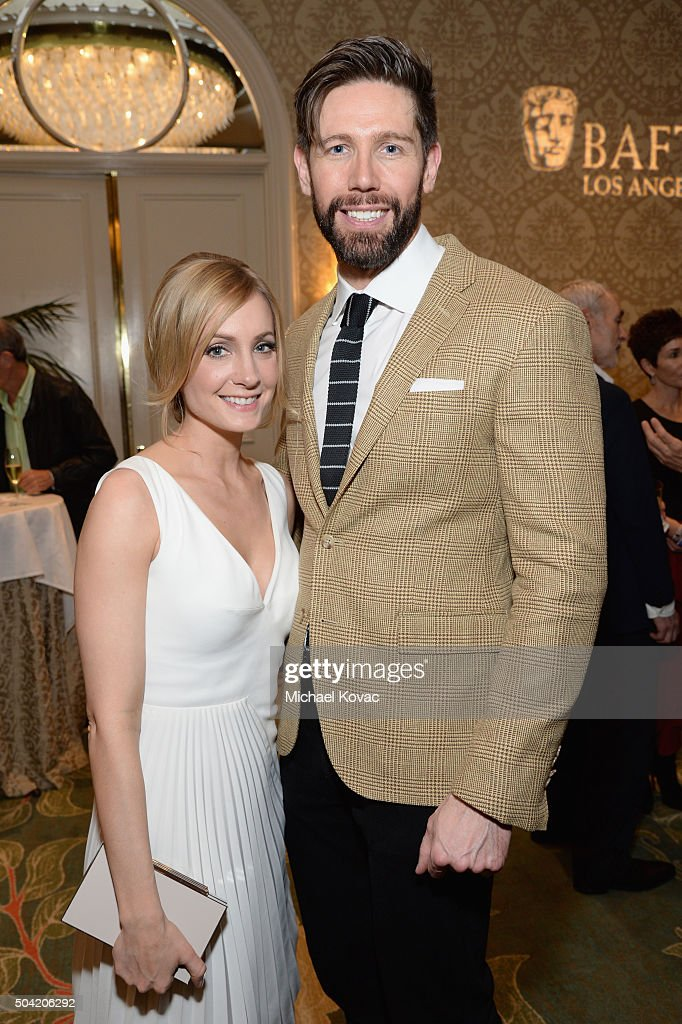 Actress Joanne Froggatt and James Cannon attend the BAFTA Los Angeles Awards Season Tea at Four Seasons Hotel Los Angeles at Beverly Hills on January 9, 2016 in Los Angeles, California.
