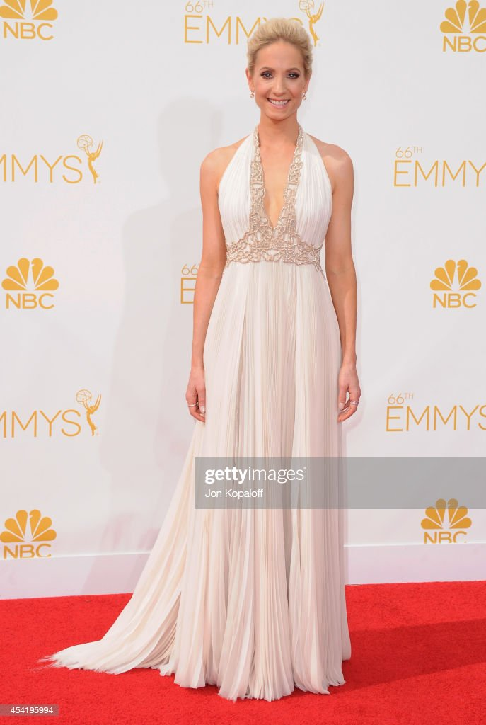 Actress Joanne Froggatt arrives at the 66th Annual Primetime Emmy Awards at Nokia Theatre LA Live on August 25 2014 in Los Angeles California