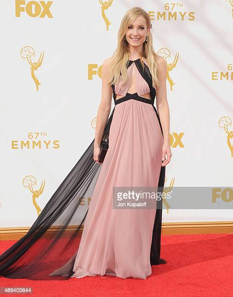 Actress Joanne Froggatt arrives at the 67th Annual Primetime Emmy Awards at Microsoft Theater on September 20 2015 in Los Angeles California