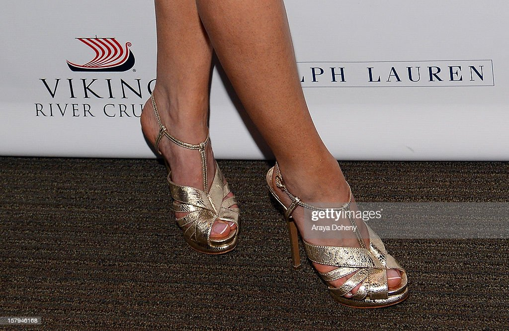 Actress Joanne Froggatt (shoe detail) arrives at The Hollywood Reporter screening of PBS Masterpiece's 'Downton Abbey' Season 3 on December 7, 2012 in West Hollywood, California.