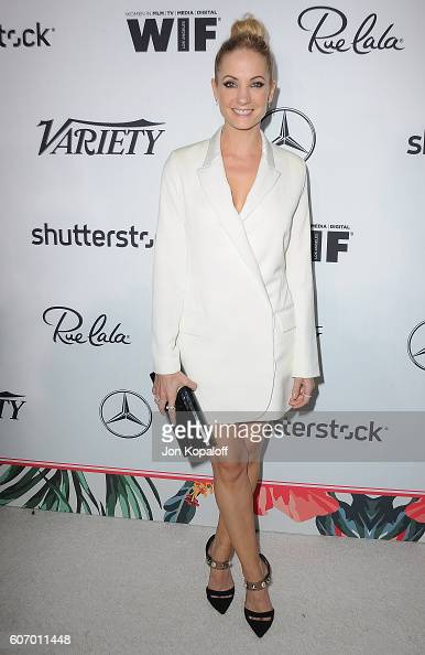 Actress Joanne Froggatt arrives at Variety And Women In Film's PreEmmy Celebration at Gracias Madre on September 16 2016 in West Hollywood California