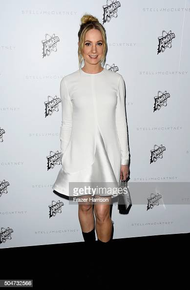 Actress Joanne Froggatt attends Stella McCartney Autumn 2016 Presentation at Amoeba Music on January 12 2016 in Los Angeles California