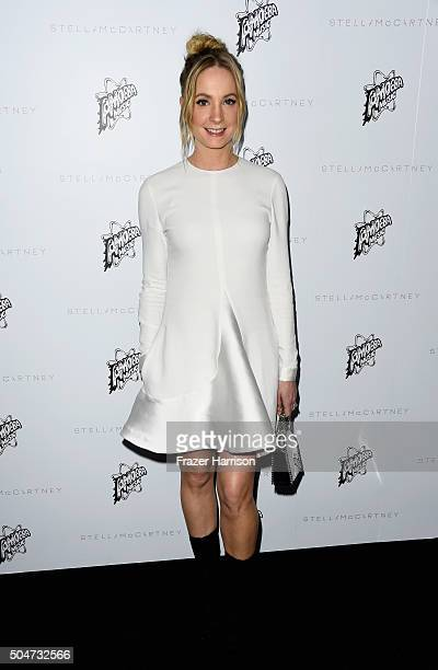 Actress Joanne Froggatt attends Stella McCartney Autumn 2016 Presentation at Amoeba Music on January 12 2016 in Los Angeles California
