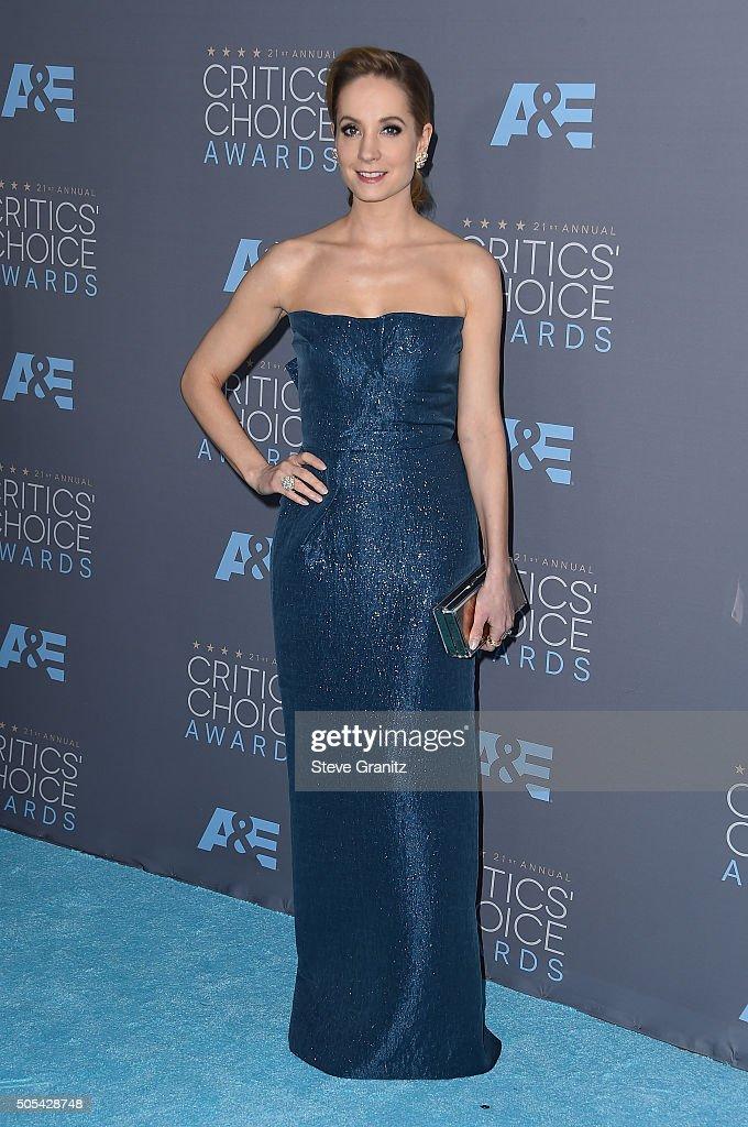 Actress Joanne Froggatt attends the 21st Annual Critics' Choice Awards at Barker Hangar on January 17 2016 in Santa Monica California