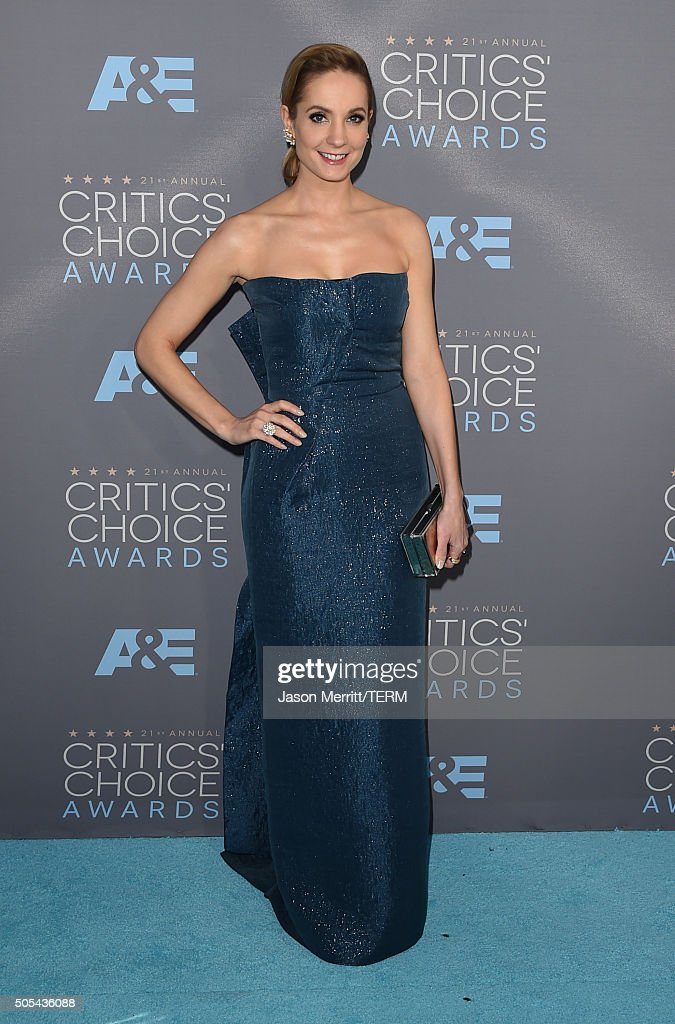Actress <a gi-track='captionPersonalityLinkClicked' href=/galleries/search?phrase=Joanne+Froggatt&family=editorial&specificpeople=2364245 ng-click='$event.stopPropagation()'>Joanne Froggatt</a> attends the 21st Annual Critics' Choice Awards at Barker Hangar on January 17, 2016 in Santa Monica, California.