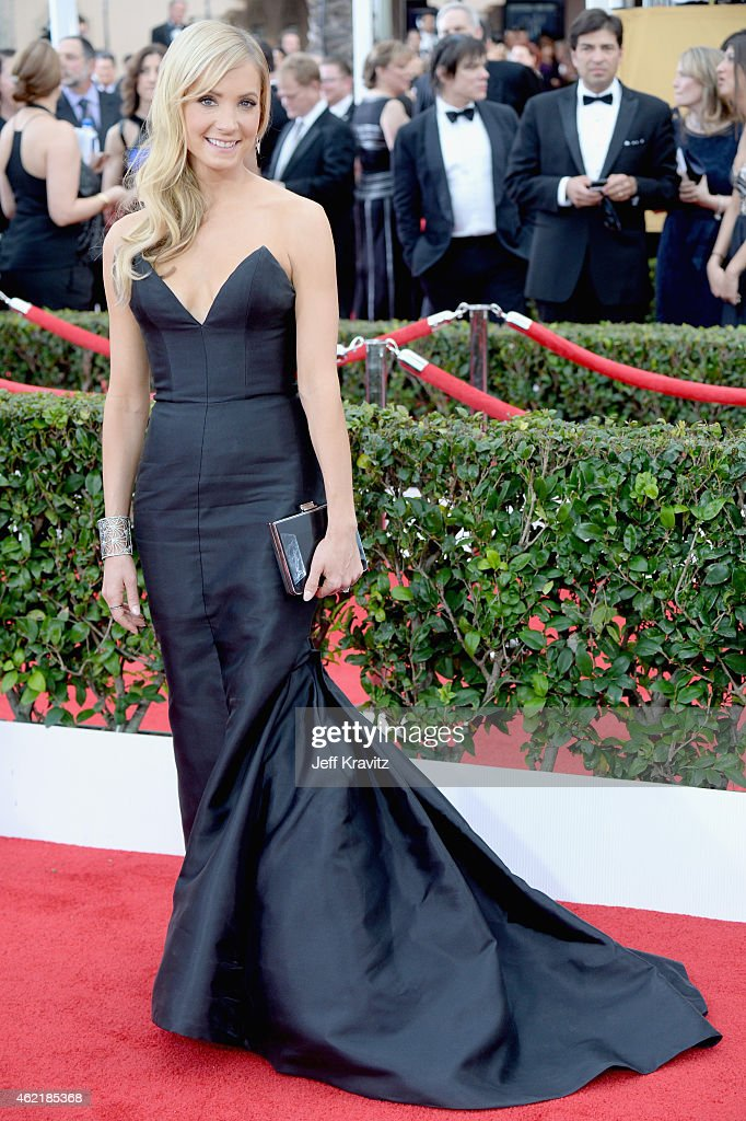 Actress Joanne Froggatt attends the 21st Annual Screen Actors Guild Awards at The Shrine Auditorium on January 25 2015 in Los Angeles California