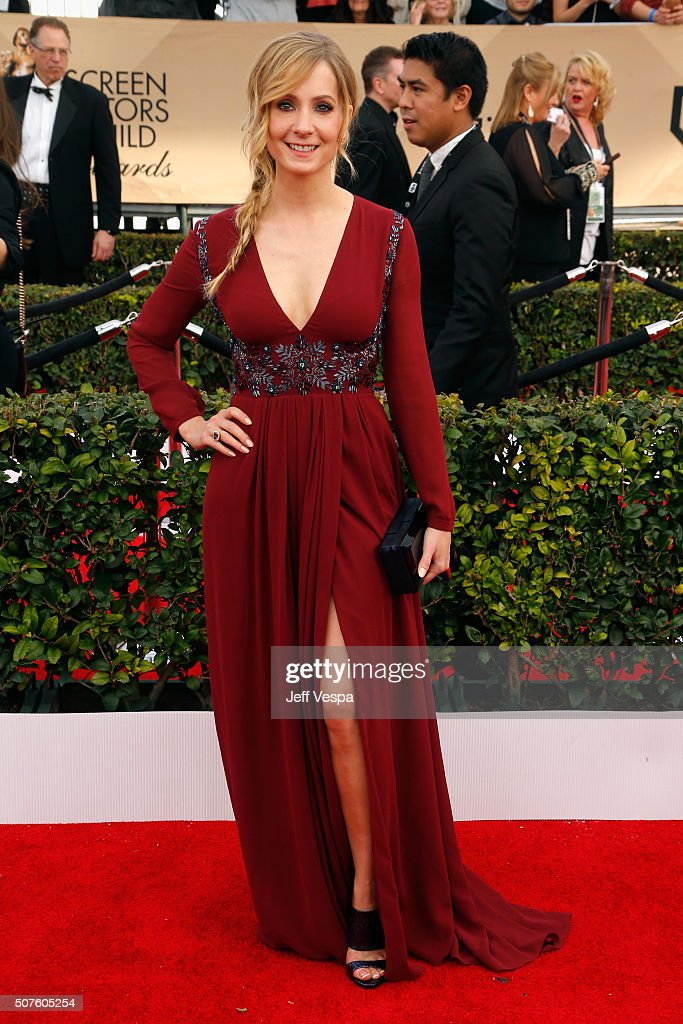 Actress Joanne Froggatt attends the 22nd Annual Screen Actors Guild Awards at The Shrine Auditorium on January 30 2016 in Los Angeles California