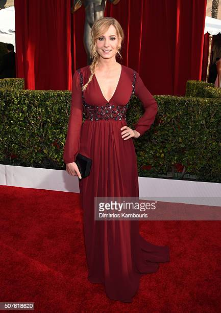 Actress Joanne Froggatt attends The 22nd Annual Screen Actors Guild Awards at The Shrine Auditorium on January 30 2016 in Los Angeles California...