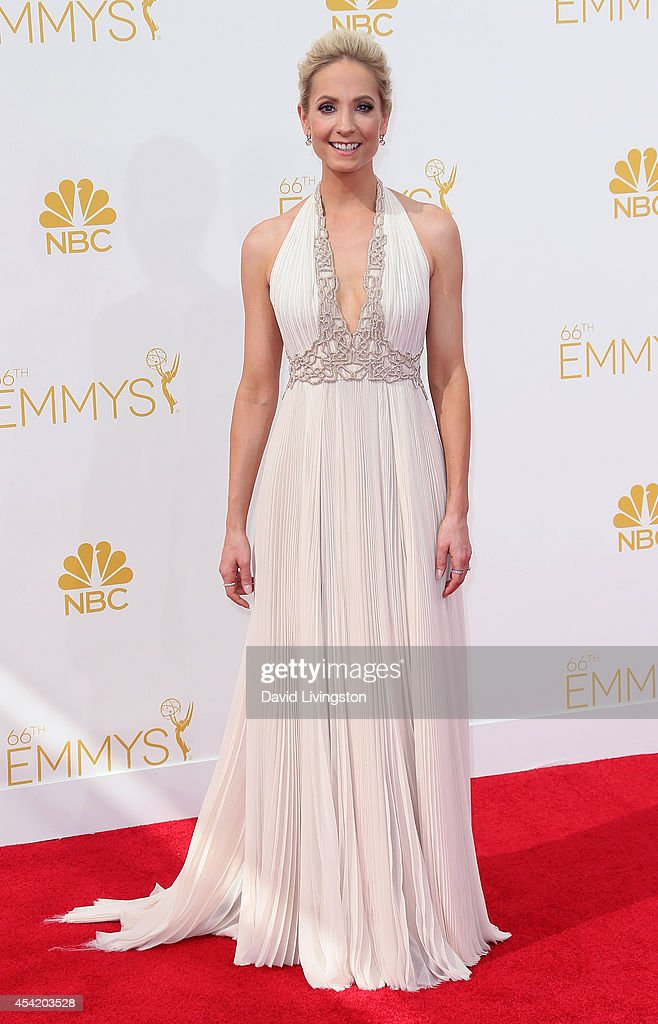 Actress Joanne Froggatt attends the 66th Annual Primetime Emmy Awards at the Nokia Theatre LA Live on August 25 2014 in Los Angeles California