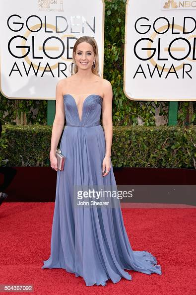 Actress Joanne Froggatt attends the 73rd Annual Golden Globe Awards held at the Beverly Hilton Hotel on January 10 2016 in Beverly Hills California