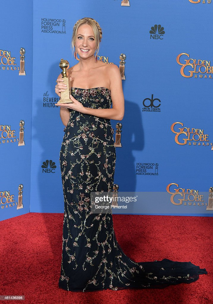 Actress <a gi-track='captionPersonalityLinkClicked' href=/galleries/search?phrase=Joanne+Froggatt&family=editorial&specificpeople=2364245 ng-click='$event.stopPropagation()'>Joanne Froggatt</a> poses in the press room during the 72nd Annual Golden Globe Awards at The Beverly Hilton Hotel on January 11, 2015 in Beverly Hills, California.