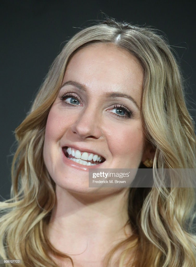 Actress Joanne Froggatt speaks onstage during Masterpiece Theater's 'Dark Angel' panel as part of the PBS portion of the 2016 Television Critics...