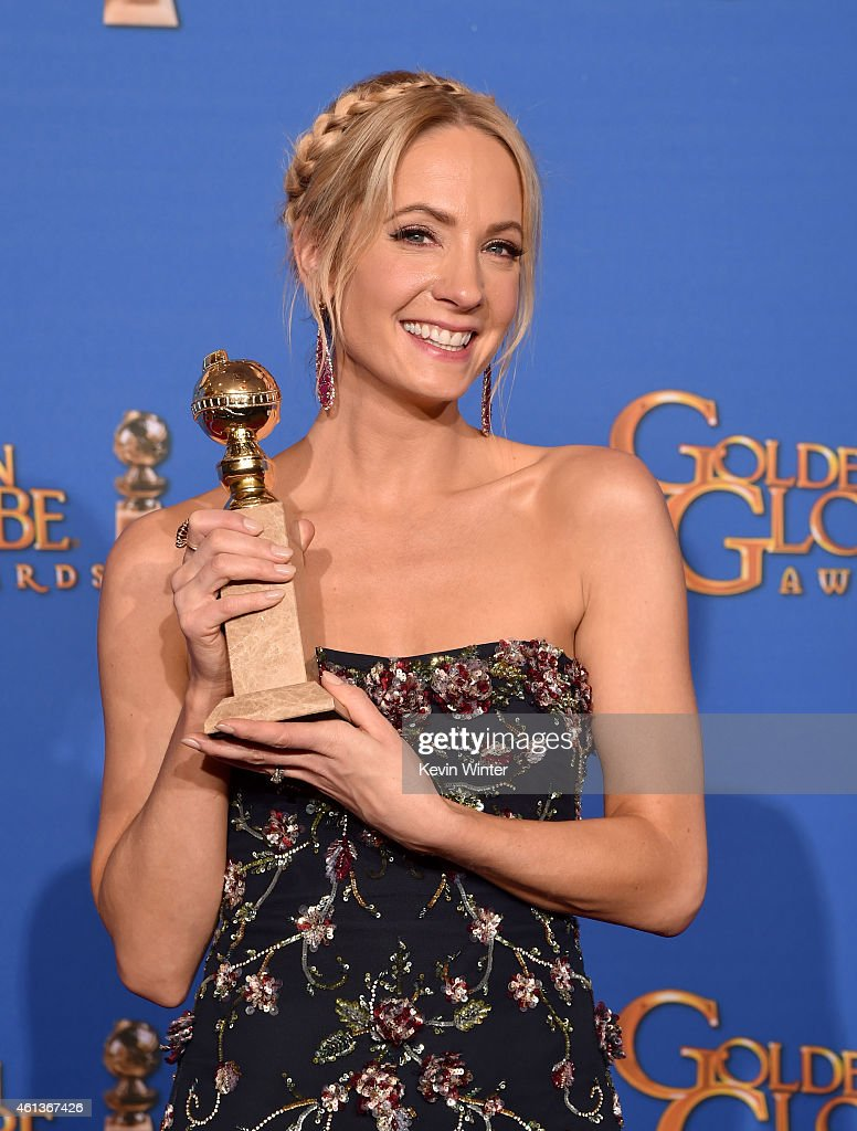 Actress Joanne Froggatt winner of Best Supporting Actress in a Series Miniseries or Television Film for 'Downton Abbey' poses in the press room...