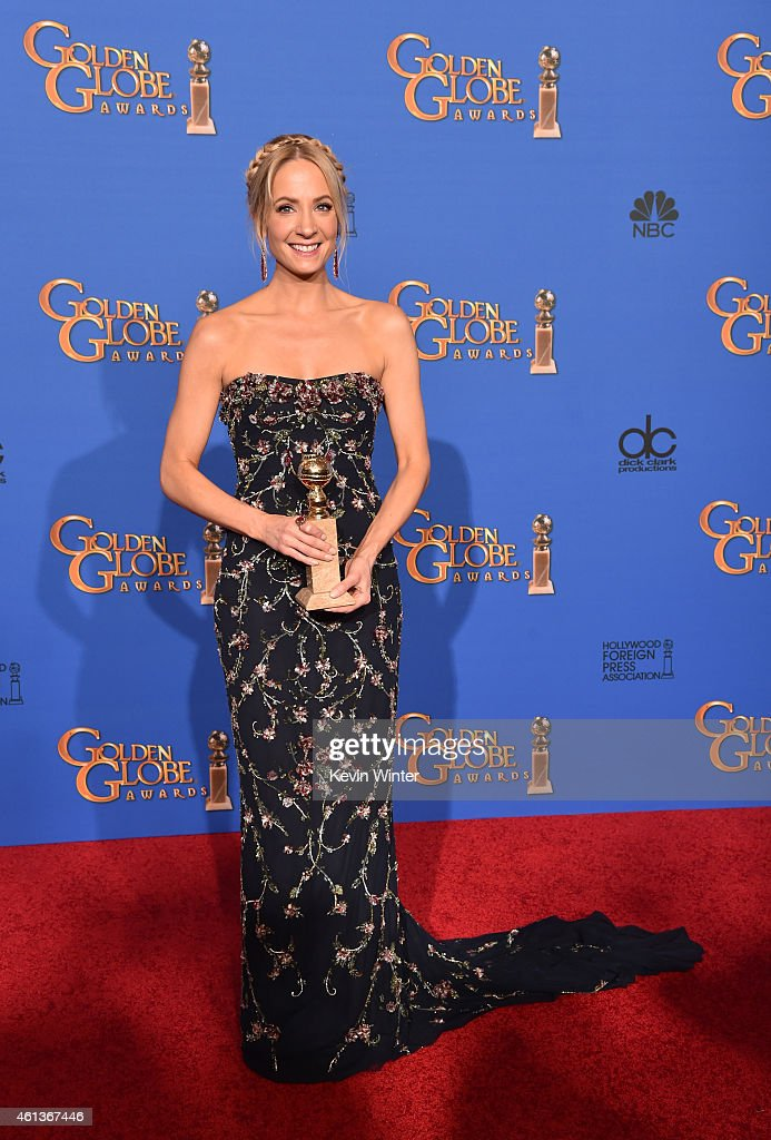 Actress <a gi-track='captionPersonalityLinkClicked' href=/galleries/search?phrase=Joanne+Froggatt&family=editorial&specificpeople=2364245 ng-click='$event.stopPropagation()'>Joanne Froggatt</a>, winner of Best Supporting Actress in a Series, Miniseries, or Television Film for 'Downton Abbey,' poses in the press room during the 72nd Annual Golden Globe Awards at The Beverly Hilton Hotel on January 11, 2015 in Beverly Hills, California.