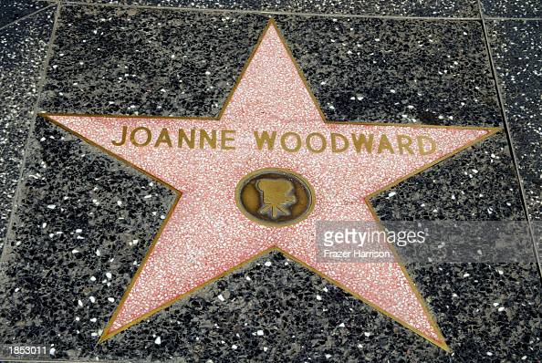 Actress Joanne Woodward's star is seen on the Hollywood Walk of Fame on March 16 2003 in Hollywood California