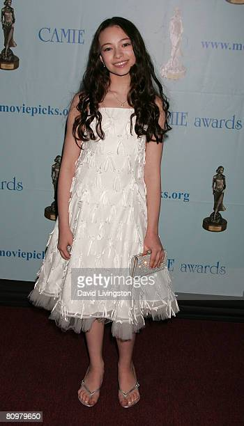 Actress Jodelle Ferland attends the 2008 Camie Awards at the Wilshire Theatre on May 3 2008 in Beverly Hills California