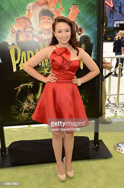 Actress Jodelle Ferland attends the premiere of Focus Features' 'ParaNorman' held at Universal CityWalk on August 5 2012 in Universal City California