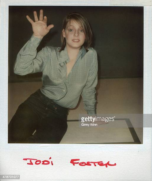 Actress Jodi Foster poses for a Polaroid portrait circa 1975 in Hollywood California