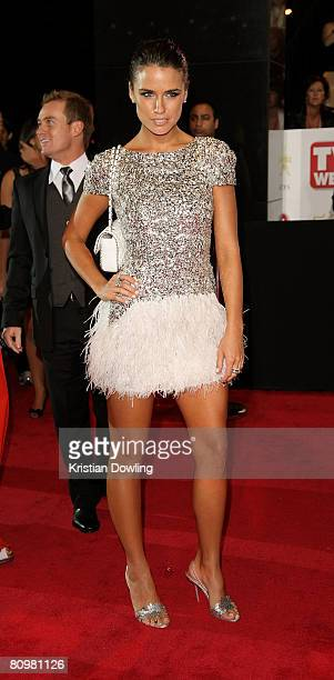 Actress Jodi Gordon arrives on the red carpet at the 50th Annual TV Week Logie Awards at the Crown Towers Hotel and Casino on May 4 2008 in Melbourne...