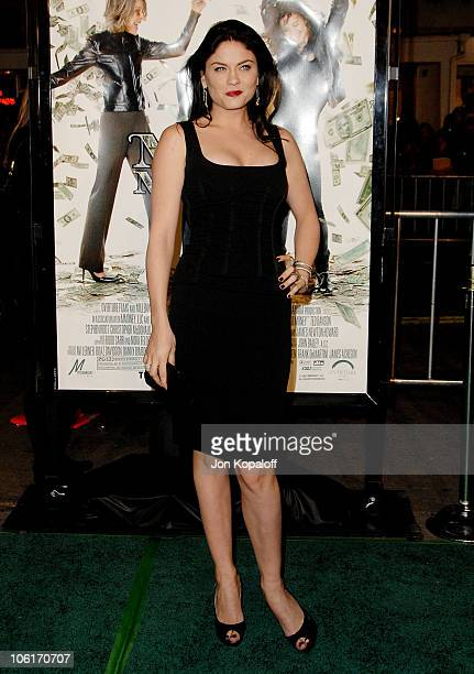 Actress Jodi Lyn O'Keefe arrives at the Los Angeles Premiere 'Mad Money' at the Mann Village Theater on January 9 2008 in Westwood California