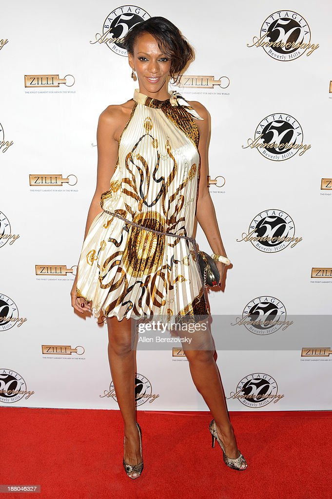 Actress Jodi Shekoni attends the Battaglia's 50th Anniversary of Quality & Elegance Celebration on November 14, 2013 in Beverly Hills, California.