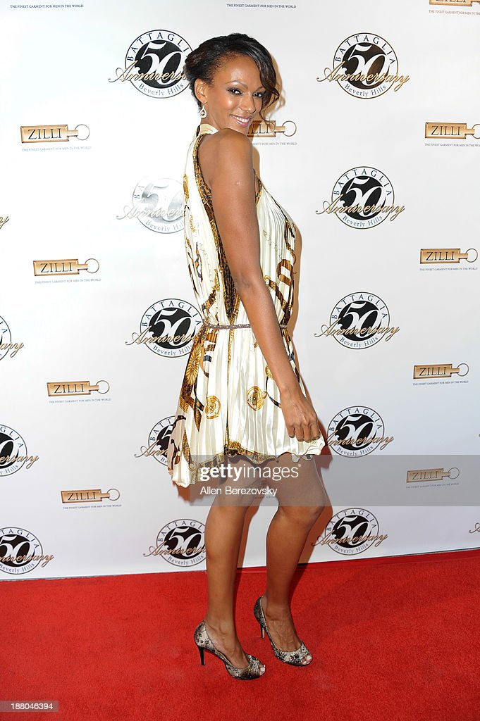 Actress Jodi Shekoni attends the Battaglia's 50th Anniversary of Quality & Elegance Celebration on November 14, 2013 in Beverly Hills, California.