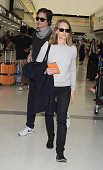 Actress Jodie Foster and Alexandra Hedison are seen upon arrival at Narita International Airport on May 31 2016 in Narita Japan