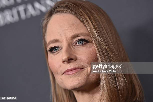 Actress Jodie Foster arrives at the 2016 AMD British Academy Britannia Awards presented by Jaguar Land Rover and American Airlines at The Beverly...