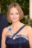 Actress Jodie Foster arrives at the 70th Annual Golden Globe Awards held at The Beverly Hilton Hotel on January 13 2013 in Beverly Hills California