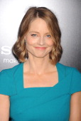 Actress Jodie Foster arrives at the Los Angeles premiere of 'Elysium' at Regency Village Theatre on August 7 2013 in Westwood California