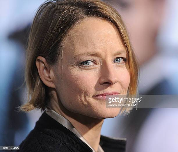 Actress Jodie Foster arrives at the Los Angeles premiere of 'Sherlock Holmes A Game Of Shadows' at Regency Village Theatre on December 6 2011 in...