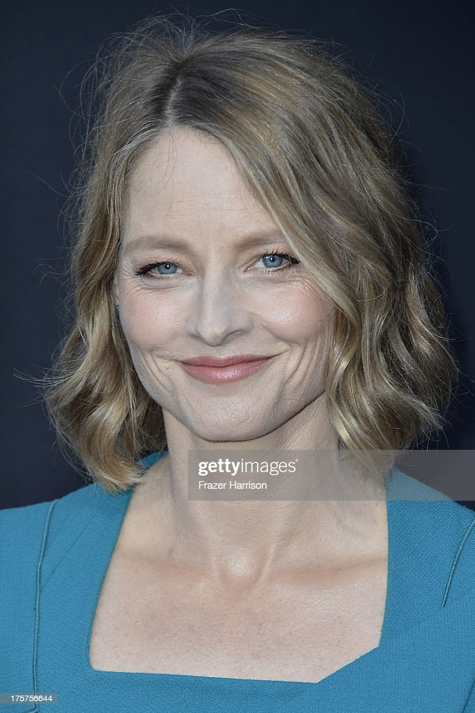 Actress Jodie Foster arrives at the premiere of TriStar Pictures' 'Elysium' at Regency Village Theatre on August 7, 2013 in Westwood, California.