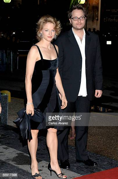 Actress Jodie Foster arrives with director Robert Schwentke to receive her lifetime achievement award and present their film 'Flightplan' at the...