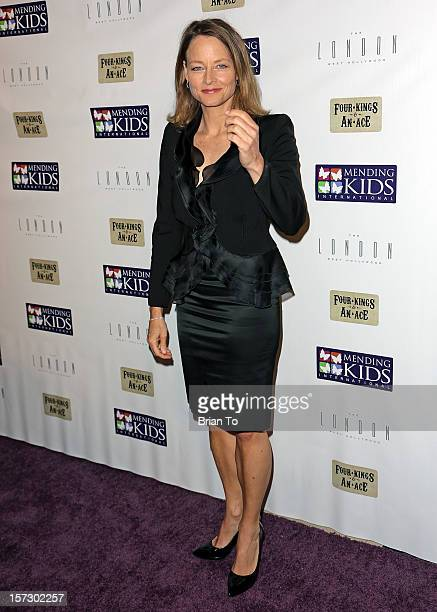 Actress Jodie Foster attends Mending Kids International celebrity poker tournament at The London Hotel on December 1 2012 in West Hollywood California