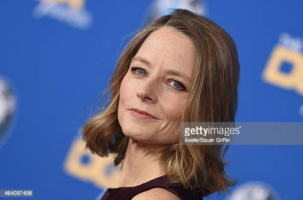Actress Jodie Foster attends the 67th Annual Directors Guild of America Awards at the Hyatt Regency Century Plaza on February 7 2015 in Los Angeles...