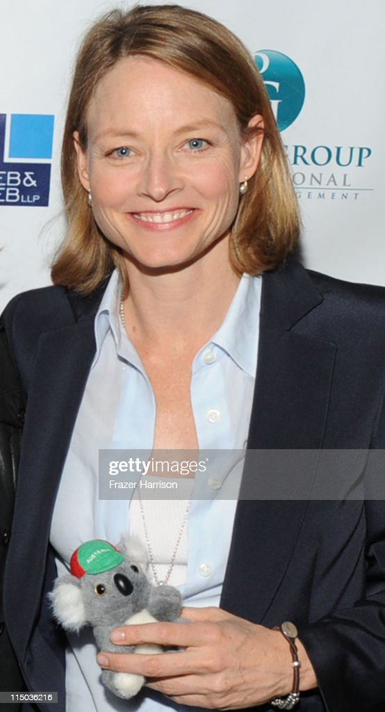 Actress <a gi-track='captionPersonalityLinkClicked' href=/galleries/search?phrase=Jodie+Foster&family=editorial&specificpeople=204488 ng-click='$event.stopPropagation()'>Jodie Foster</a> attends the Australians In Film screening of 'The Beaver' at the Harmony Gold Theate on June 1, 2011 in Los Angeles, California.