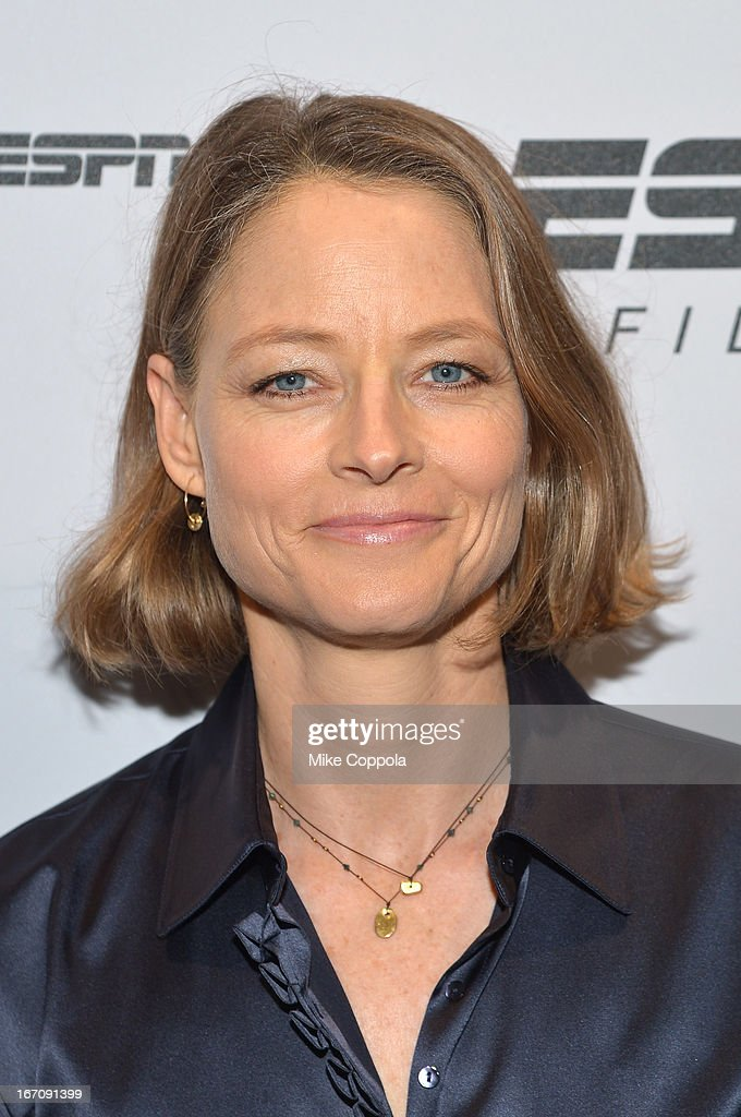 Actress <a gi-track='captionPersonalityLinkClicked' href=/galleries/search?phrase=Jodie+Foster&family=editorial&specificpeople=204488 ng-click='$event.stopPropagation()'>Jodie Foster</a> attends the ESPN Sports Film Festival Gala: 'Big Shot' after party during the 2013 Tribeca Film Festival on April 19, 2013 in New York City.