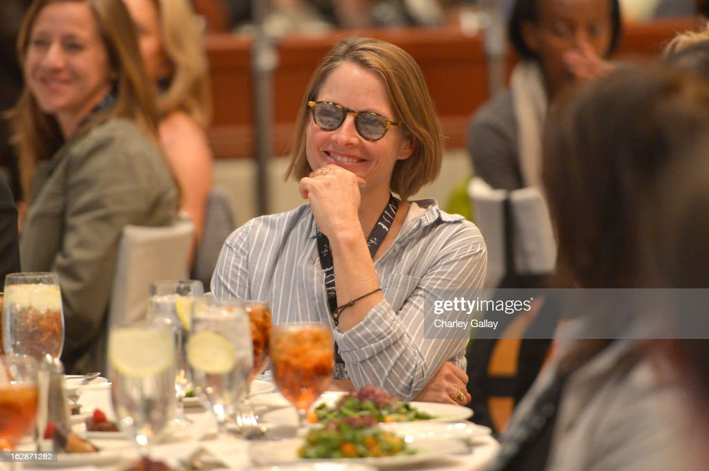 Actress <a gi-track='captionPersonalityLinkClicked' href=/galleries/search?phrase=Jodie+Foster&family=editorial&specificpeople=204488 ng-click='$event.stopPropagation()'>Jodie Foster</a> attends the launch of Chime for Change, founded by Gucci, at TED held at The Westin on February 28, 2013 in Long Beach, California.