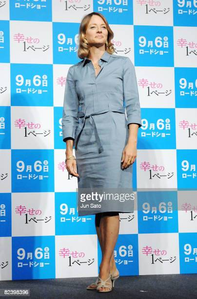 Actress Jodie Foster attends the 'Nim's Island' Press Conference at the Peninsula Tokyo on August 18 2008 in Tokyo Japan The film will open on...