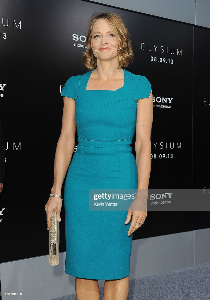 Actress Jodie Foster attends the premiere of TriStar Pictures' 'Elysium' at Regency Village Theatre on August 7, 2013 in Westwood, California.