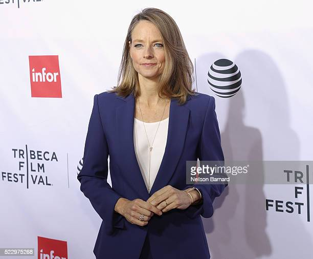 Actress Jodie Foster attends the 'Taxi Driver' 40th Anniversary Celebration during the 2016 Tribeca Film Festival at The Beacon Theatre on April 21...