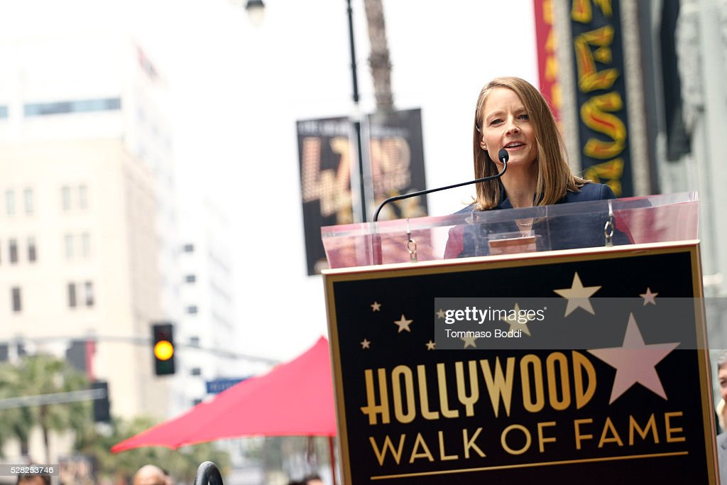 Actress Jodie Foster is honored with star on The Hollywood Walk Of Fame on May 4, 2016 in Hollywood, California.