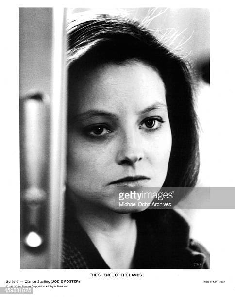 Actress Jodie Foster on set of the movie ' The Silence of the Lambs ' circa 1991