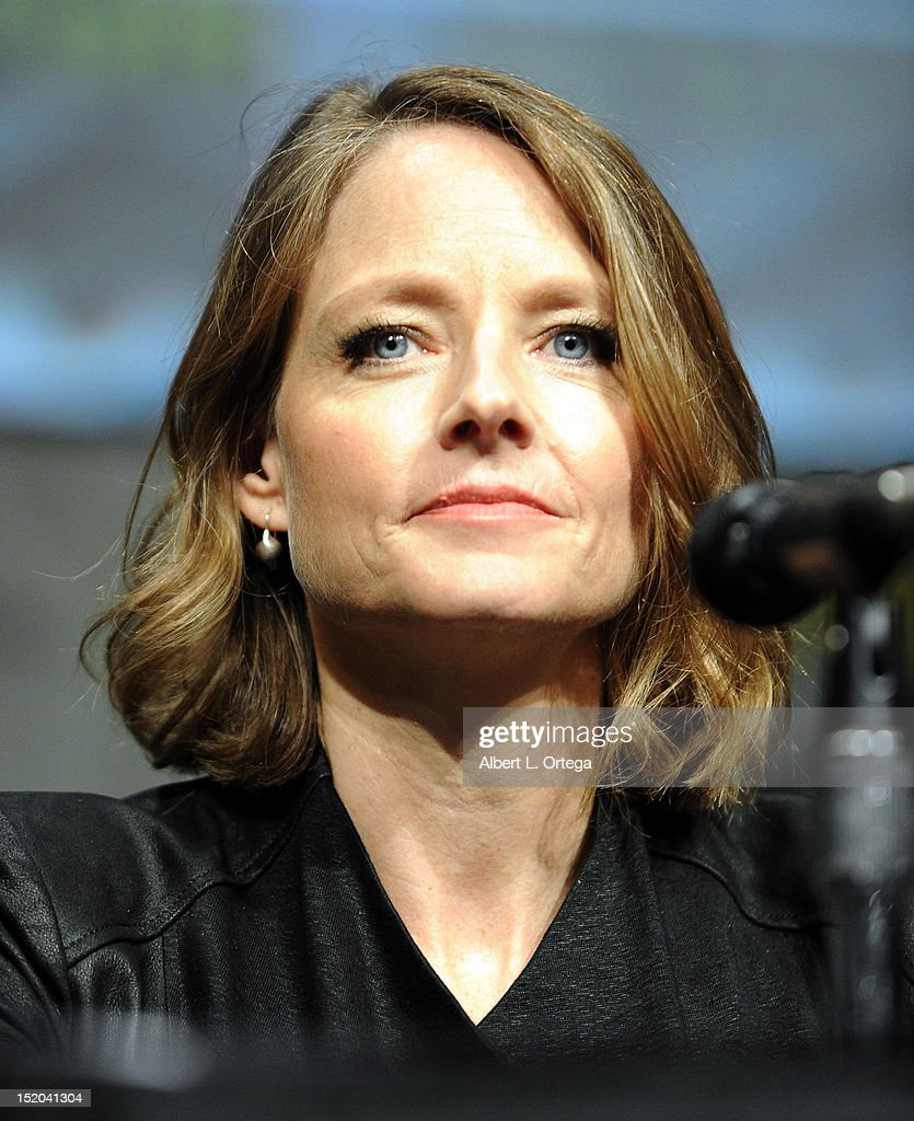 Actress Jodie Foster participates in The Sony Preview featuring 'Elysium' Panel - Comic-Con International 2012 held at San Diego Convention Center on July 12, 2012 in San Diego, California.