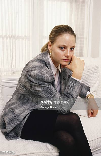 Actress Jodie Foster poses during a 1988 photo portrait session in Los Angeles California Foster won two Academy Awards in the films 'Silence of the...