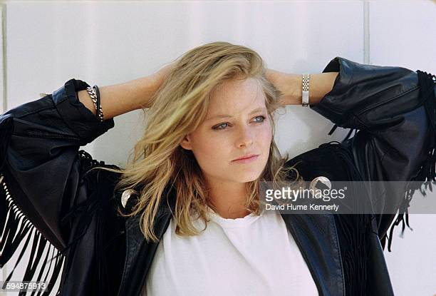 Actress Jodie Foster poses for a photo in June 1987 in Vancouver Canada Foster is promoting her movie 'The Accused'