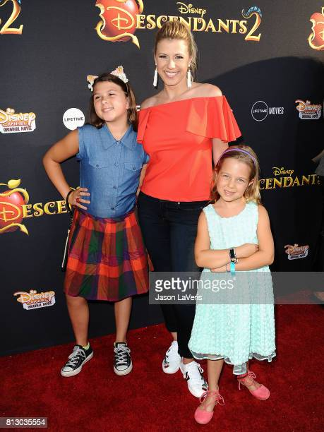 Actress Jodie Sweetin and daughters Zoie Laurel May Herpin and Beatrix Carlin Sweetin Coyle attend the premiere of 'Descendants 2' at The Cinerama...