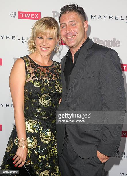 Actress Jodie Sweetin and Justin Hodak attend People's 'One To Watch' Event at Ysabel on September 16 2015 in West Hollywood California