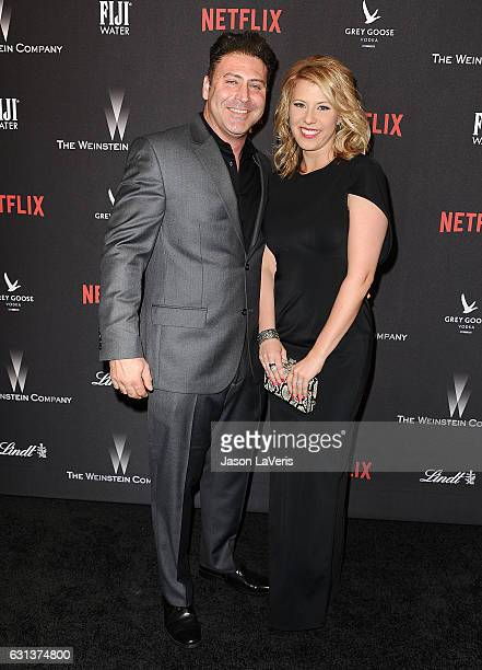 Actress Jodie Sweetin and Justin Hodak attend the 2017 Weinstein Company and Netflix Golden Globes after party on January 8 2017 in Los Angeles...